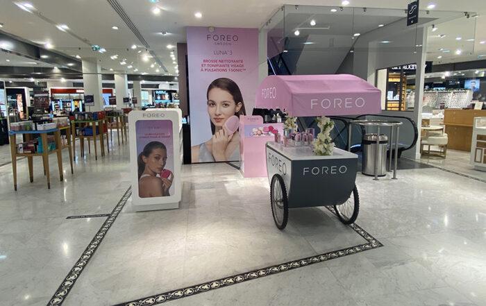 Le pop up Shop de FOREO au BHV Marais