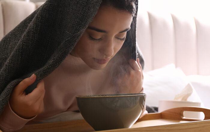 Ouvrir ses pores avec un bain de vapeur