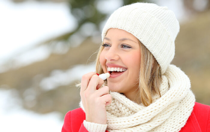 Baume à lèvre indispensable quand il fait froid