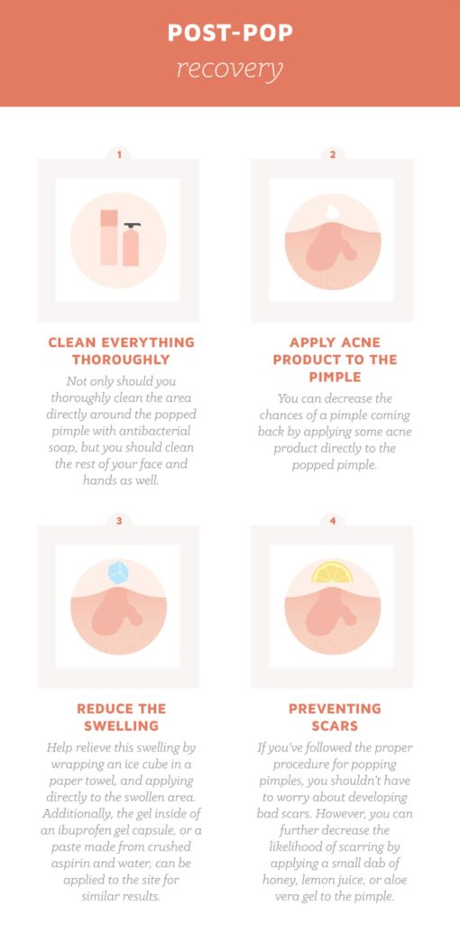 how to take the redness out of a popped pimple