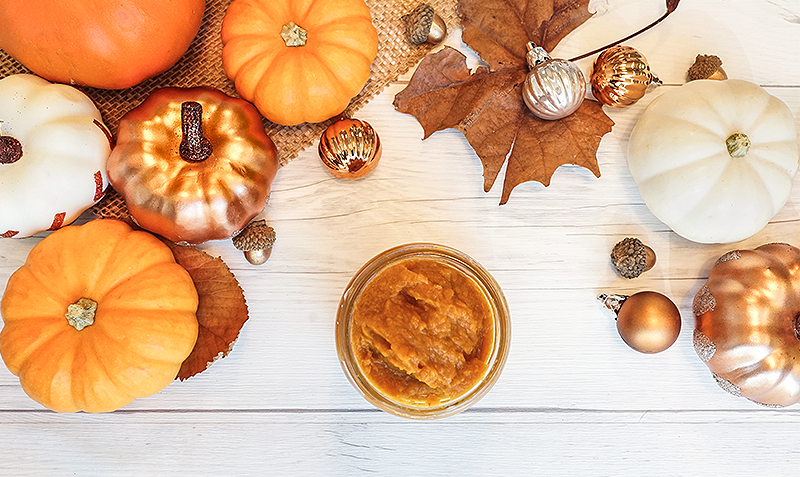 Homemade pumpkin facial