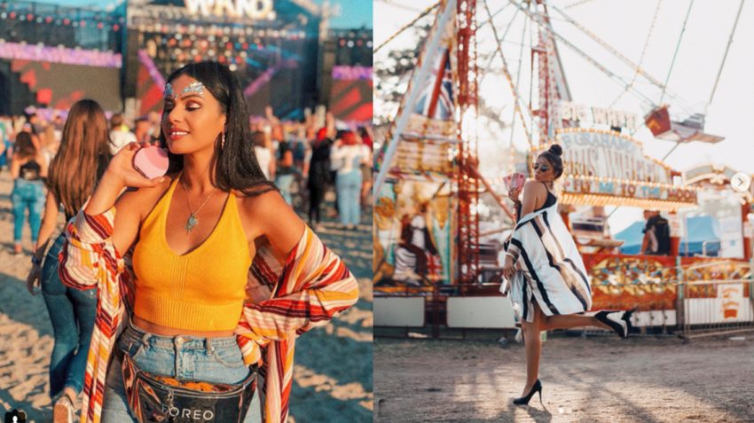 @fashionmintea at Weekend Festival Baltic (l), and @yana_leventseva at Bestival (r)