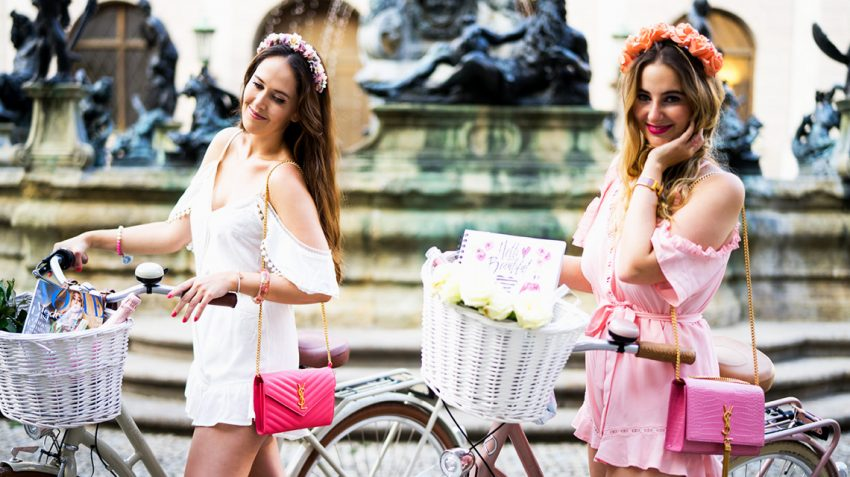 Pink Macaron from Munich and their pink adventure on bikes