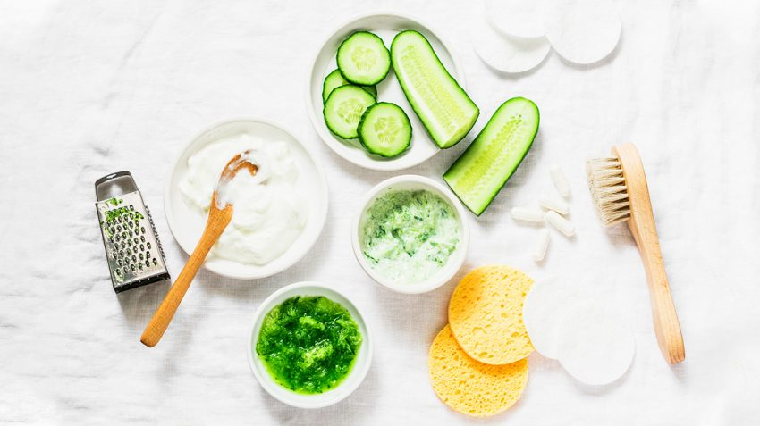 cucumber as home remedies for glowin winter skin