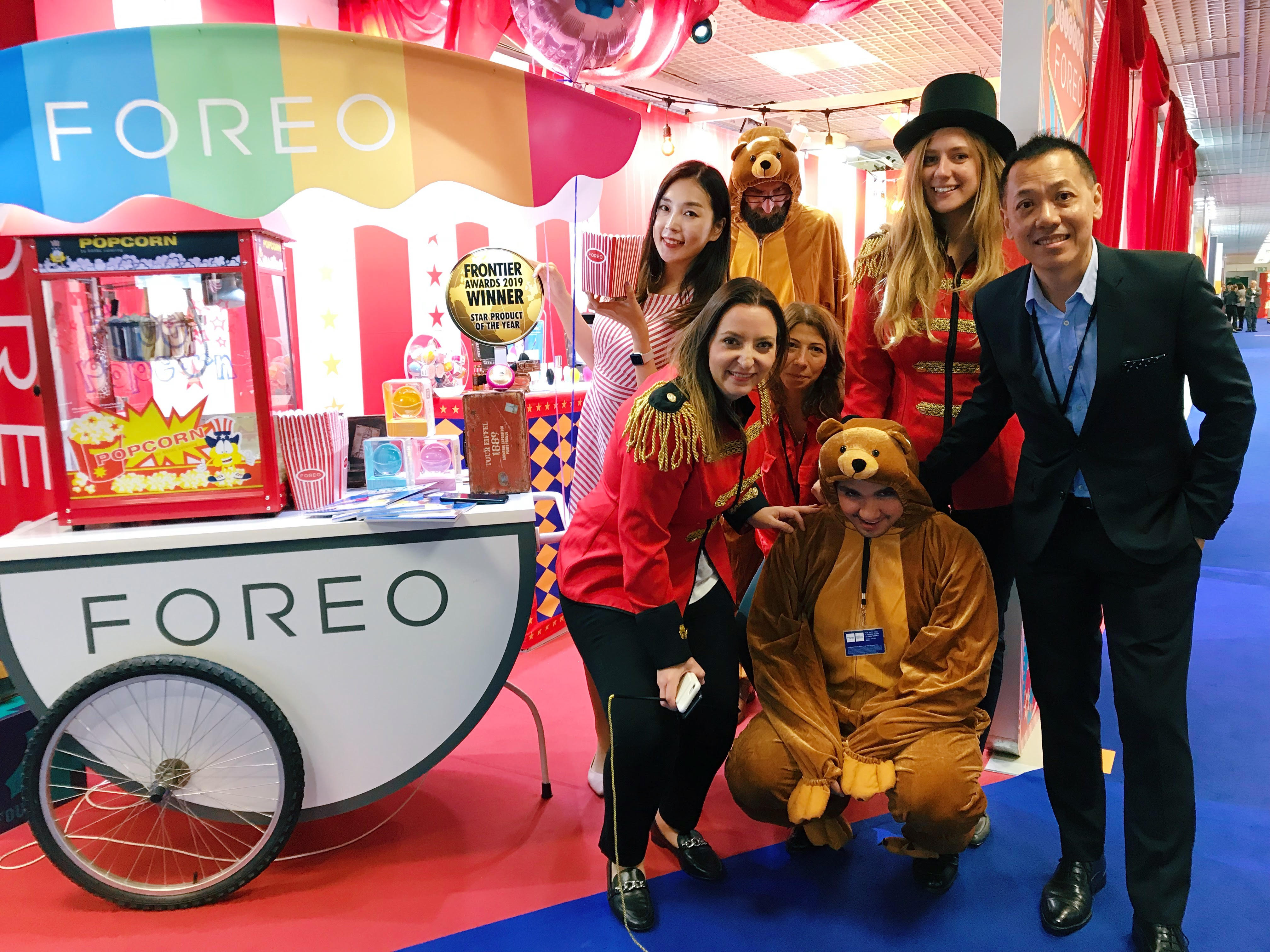 FOREO at tfwa with circus theme