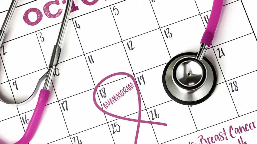 Breast Cancer Awareness month on calendar