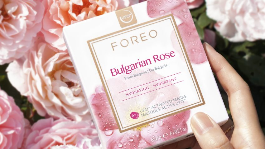 Bulgarian rose face mask lifestyle pic