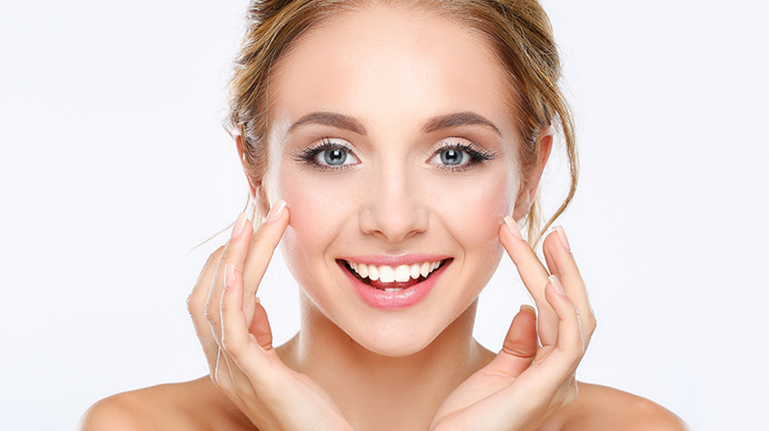 girl with radian clean face