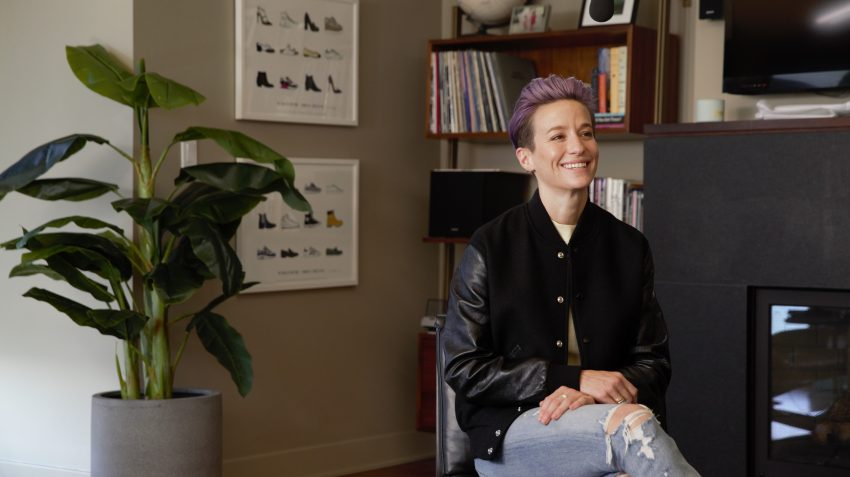 Meghan Rapinoe interview at home with FOREO